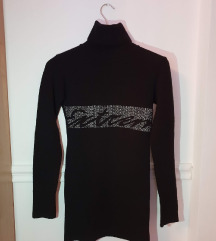 Fekete hosszított pulóver