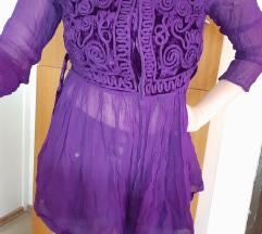 Egyedi vintage lila felső