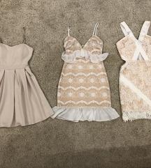 Bézs-fehér alkalmi ruhák