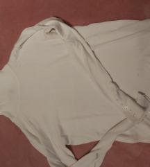 M-es fehér pulóver ,garbós felső