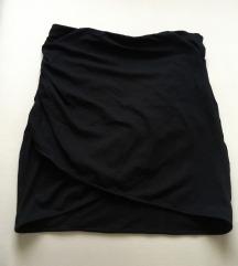Fekete átlapolt pamut miniszoknya