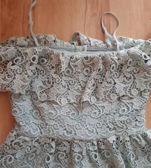 Gyönyörű H&M horgolt alkalmi esküvői ruha S új!