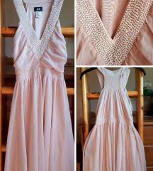 H&M tüll nude koszorúslány ruha XS