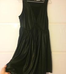 Fekete bőrhatású ruha