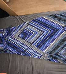 Kék mintás ruha - nyakba akasztós