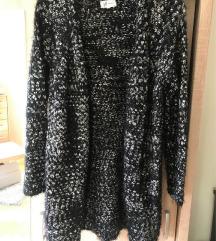 Reserved fekete hosszú kötött kardigán pulóver
