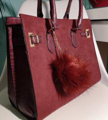 Bordó orsay táska