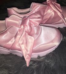 Új rózsaszín szatén masnis cipő