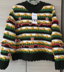 Új Zara pulóver S/M
