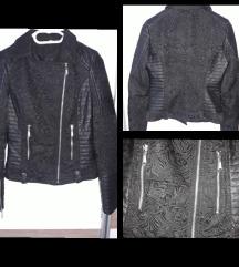 Műbőr csipkés kabát S