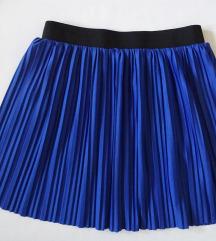 Vero Moda plisszírozott kék szoknya