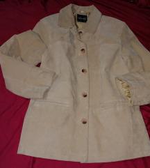 Vunic, női, bézs, valódi bőr kabát, 44-es Új