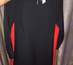 H&M sötétkék elegáns ruha, 34-es