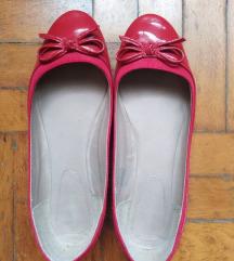 Piros lakk 40-es balerína cipő