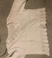 Vintage Crop kötött pulcsi