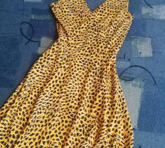 mintás sárga nyári ruha