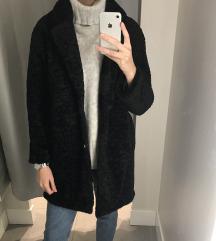Új fekete zara teddy coat