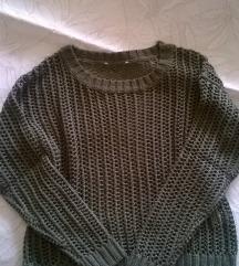 Kötött khaki pulcsi