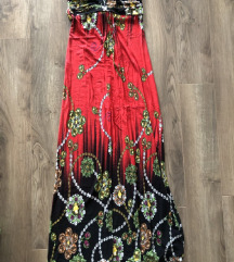 Missq piros fekete maxi hosszú maxiruha ruha