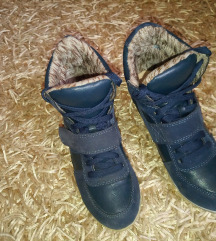 Sötétkék kék magastalpú 38-as cipő új