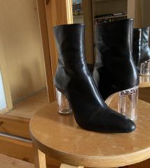ZARA Leather Plexi Ankle Boots