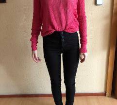 kötött rózsaszín pulcsi