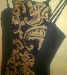 Arany fekete flitteres ruha