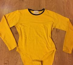 Mustársárga női body