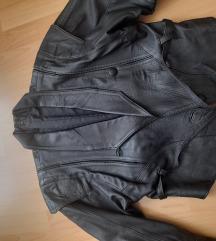 Fekete bőr kabát női M-es