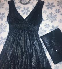 Gyönyörű csillogós fekete ruha