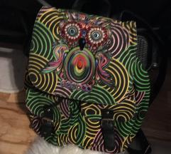 Baglyos színes hátizsák