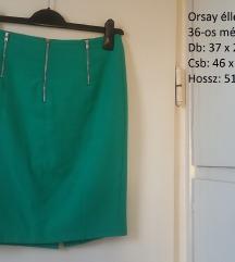 Orsay zöld ceruzaszoknya, 36-os