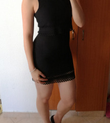 Fekete sztreccses ruha