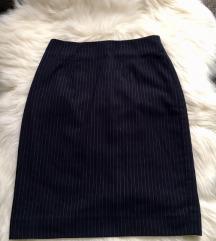 ÚJ H&M sötétkék - fehér csíkos szoknya
