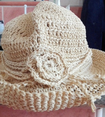 Horgolt nyári kalap