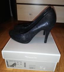Fekete-ezüst Tamaris cipő