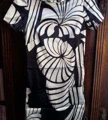 Fekete-fehér selyem tunika
