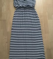 Csíkos maxi ruha