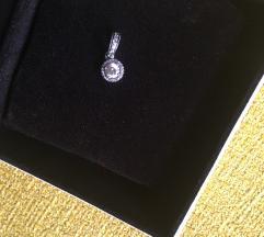 Pandora ezüst medál, charm cirkóniával