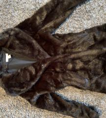 H&M barna szörme bunda elegáns alkalmi téli