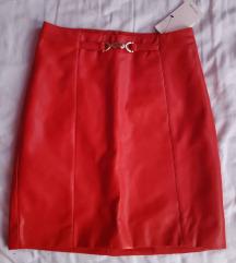 Címkés Orsay dögös piros műbőr szoknya