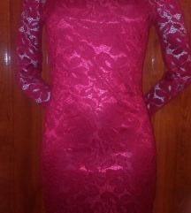 Új bordó piros csipke ruha :)