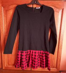 Hosszúujjú fekete ruha