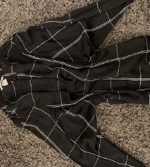 h&m fekete kockás business ing