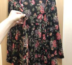H&M áttetszős virágos ruha ing