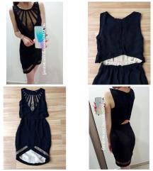 Fekete - csipke alkalmi ruha