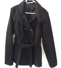 Fekete velúr kabát