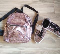 Színes Csillogó backpack és H&M platform cipő