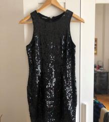 Fekete S-es flitteres ruha