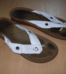 fehér bőr flip-flop